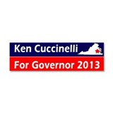 Ken Cuccinelli Virginia Governor 2013 Car Magnet 1