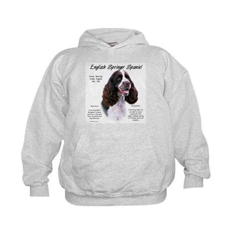 Liver English Springer Kids Hoodie