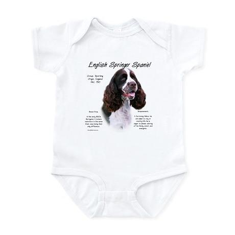 Liver English Springer Infant Bodysuit