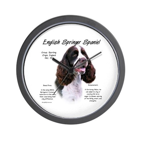 Liver English Springer Wall Clock
