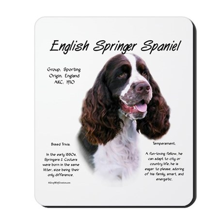 Liver English Springer Mousepad 
