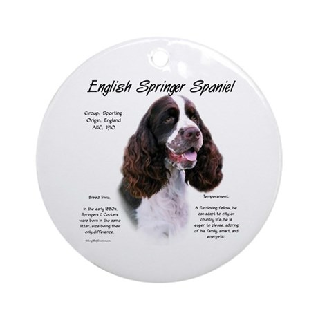 Liver English Springer Ornament (Round)