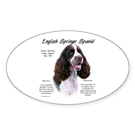 Liver English Springer Oval Sticker