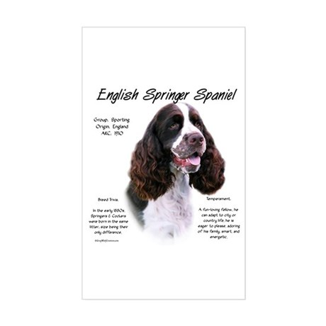 Liver English Springer Rectangle Sticker