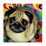 Cute Pugs Tile Coaster
