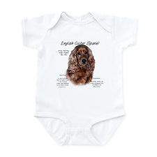 Liver English Cocker Spaniel Infant Bodysuit