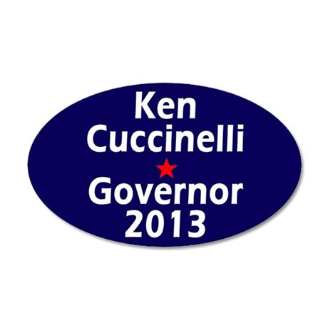 Ken Cuccinelli Governor 2013 35x21 Oval Wall Decal