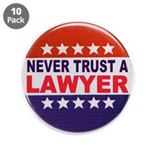 """LAWYER POLITICAL BUTTON 3.5"""" Button (10 pack)"""