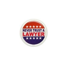 LAWYER POLITICAL BUTTON Mini Button (100 pack)
