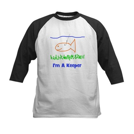 I'm A Keeper Kids Baseball Jersey