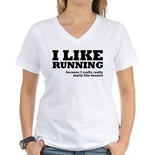 I Like Running and Dessert Shirt