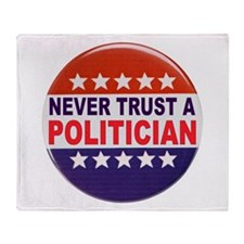 POLITICIAN BUTTON Throw Blanket