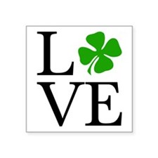 "Shamrock Love Square Sticker 3"" x 3"""