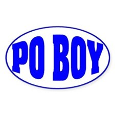 Po Boy Oval Decal
