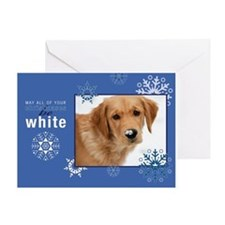 White Christmas Golden Greeting Card