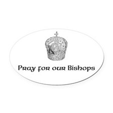 Funny Bishop Oval Car Magnet