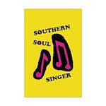 W11 Mini Poster Print: Southern Soul Singer