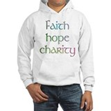 Faith Hope Charity watercolor Hoodie
