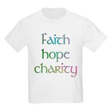 Faith Hope Charity watercolor Kids T-Shirt