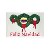 Venezuela Christmas 2 Rectangle Magnet