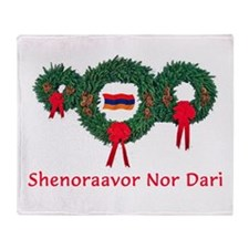 Armenia Christmas 2 Throw Blanket