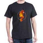 Flaming Hot Kitty Black T-Shirt