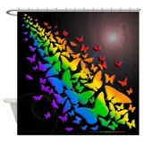 Butterfly Rainbow- Shower Curtain