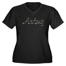 Audrey Spark Women's Plus Size V-Neck Dark T-Shirt