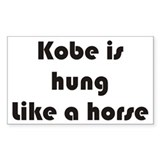 Kobe Rectangle Bumper Stickers