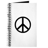 Peace Sign Symbol Journal Diary