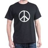 Peace Sign Symbol Black T-Shirt