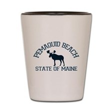 Pemaquid Beach ME - Moose Design. Shot Glass