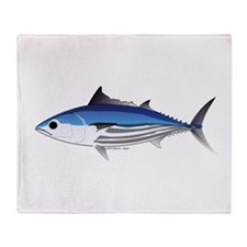Skipjack Tuna fish Throw Blanket