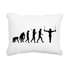 Rings Gymnast Rectangular Canvas Pillow