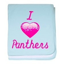 I Love/Heart Panthers baby blanket