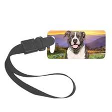 Pit Bull Meadow Luggage Tag