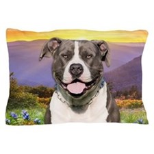 Pit Bull Meadow Pillow Case