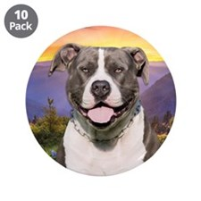 """Pit Bull Meadow 3.5"""" Button (10 pack)"""