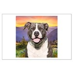 Pit Bull Meadow Large Poster