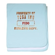 Personalized Property of Tosa Inu baby blanket