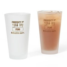 Personalized Property of Tosa Inu Drinking Glass