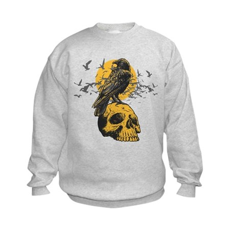 Skull and Crow Kids Sweatshirt