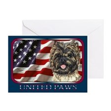 Cairn Terrier Flag USA Greeting Cards(6)