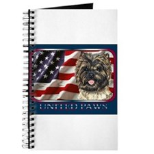Cairn Terrier Flag USA Journal
