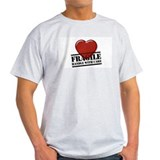 Heart-Fragile Ash Grey T-Shirt