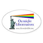 Outright Libertarians Sticker (Oval)
