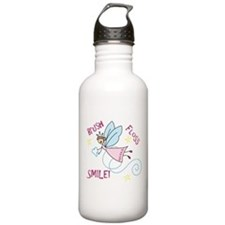 Brush Floss Smile Water Bottle