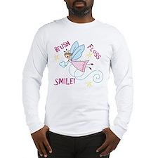 Brush Floss Smile Long Sleeve T-Shirt