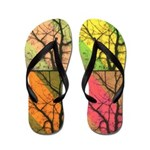 Flip Flops of color tree collage