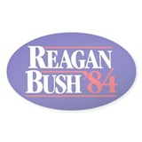 Reagan Bush 84 Decal